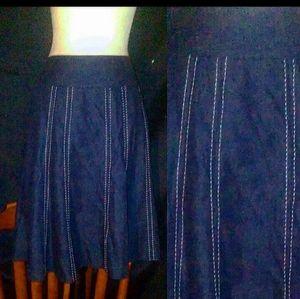 Large New York Clothing CO Jean Skirt